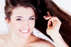 Girl with healthy hair Royalty Free Stock Photo