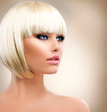 Girl with Healthy Short Hair Stock Photos