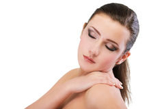 Girl with healthy skin Royalty Free Stock Photo