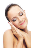 Girl with healthy skin Stock Image