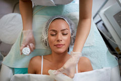 Girl with healthy skin on rejuvenation treatment Royalty Free Stock Photography