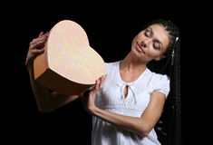 The girl with a heart Royalty Free Stock Photography