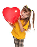 Girl with heart Stock Image