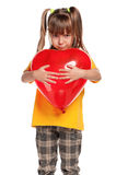 Girl with heart Royalty Free Stock Photos