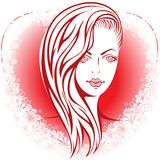 Girl in the heart Royalty Free Stock Photos