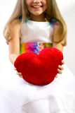 The girl with the heart. Royalty Free Stock Photography