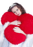 Girl with a heart Royalty Free Stock Images