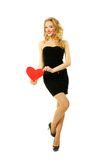 Girl with heart Stock Images