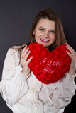 Girl with heart Royalty Free Stock Photography