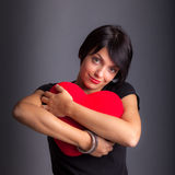 Girl with Heart. Saint Valentine day girl with Heart Stock Photos