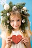 Girl with heart Stock Photos