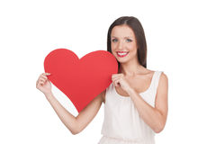 Girl with heart. Royalty Free Stock Images