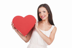 Girl with heart. Stock Photo