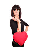 Girl with heart posing Royalty Free Stock Photography