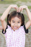 Girl Heart Shape Stock Photo