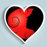 Girl with heart sticker Royalty Free Stock Images