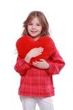 Girl with heart symbol Stock Photos