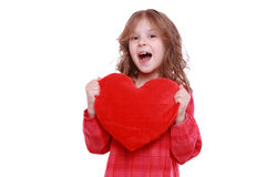 Girl with heart symbol Royalty Free Stock Photo