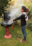 Girl heating herself Stock Images