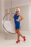 Girl on heels Stock Images