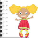 Girl height Stock Photography