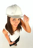 Girl with helmet Royalty Free Stock Photo