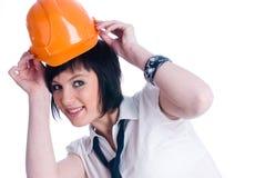 Girl in helmet Stock Photo