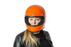 Girl With Helmet Royalty Free Stock Image