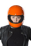 Girl With Helmet Royalty Free Stock Images