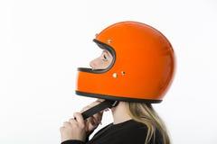 Girl With Helmet Stock Photo
