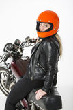 Girl With Helmet Stock Image