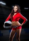 Girl with helmet Royalty Free Stock Photo