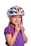 Girl Helmet Stock Photography