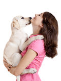 Girl and her best friend Royalty Free Stock Photos