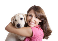 Girl and her best friend Stock Photography