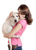 Girl and her best friend Royalty Free Stock Image