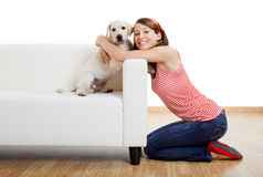 Girl with her best friend Royalty Free Stock Photography