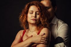 Girl with her boyfriend Royalty Free Stock Photography