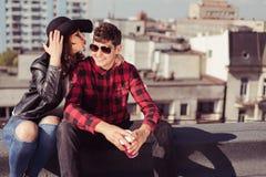 Girl and her boyfriend Stock Photos