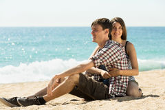 Girl and her boyfriend smiling Royalty Free Stock Photography
