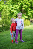 Girl and her brother Stock Photography