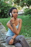 Girl on her Cellphone royalty free stock photo