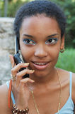 Girl on her Cellphone royalty free stock photos
