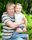 Girl with her dad Stock Photos