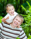 Girl with her dad Stock Photography
