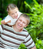 Girl with her dad Stock Image