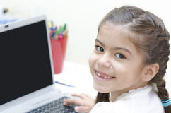 Girl at her Desk Stock Photo