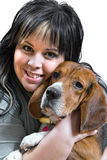 Girl And Her Dog royalty free stock photo