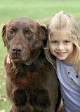 A Girl and her dog Royalty Free Stock Photo