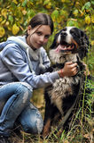 Girl and Her Dog Royalty Free Stock Photos